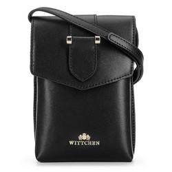 Кожаная мини-сумка через плечо, черно-золотой, 92-2E-652-10, Фотография 1