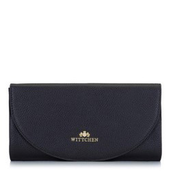 Минималистичный кожаный клатч, черный, 92-4E-659-1, Фотография 1