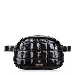 Стеганая женская сумка на пояс, черно-золотой, 91-4Y-308-1L, Фотография 1