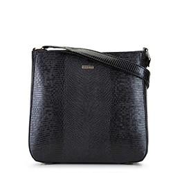 Женская  трапециевидная сумка через плечо, черно-золотой, 29-4Y-005-01, Фотография 1