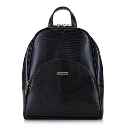 Женский рюкзак с полукруглым карманом, черно-золотой, 29-4Y-007-01, Фотография 1
