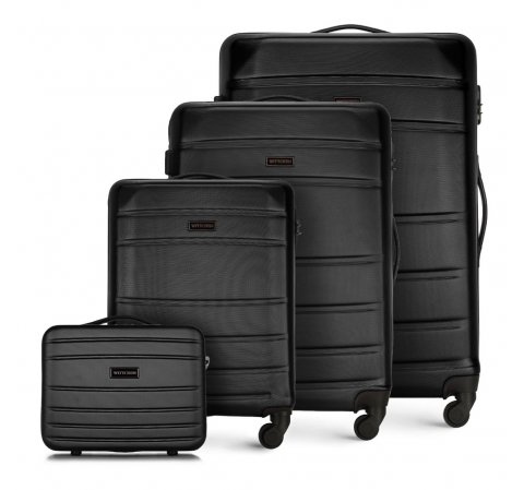 Комплект чемоданов, черный, 56-3A-65K-86, Фотография 1