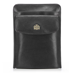 Барсетка кожаная для паспорта, черный, 10-5-127-1, Фотография 1