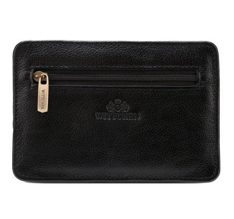 Документница кожаная с карманом на молнии, черный, 21-2-020-1, Фотография 1