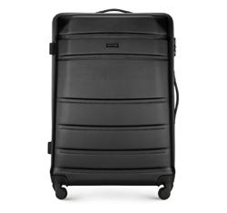 Большой чемодан, черный, 56-3A-653-10, Фотография 1