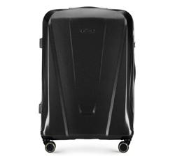 Большой чемодан, черный, 56-3P-123-10, Фотография 1