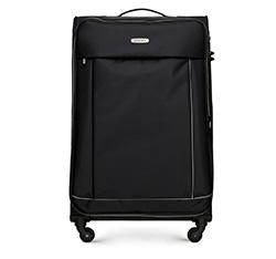 Большой чемодан, черный, 56-3S-463-12, Фотография 1