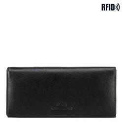 Большой женский кожаный кошелек, черный, 21-1-333-10L, Фотография 1