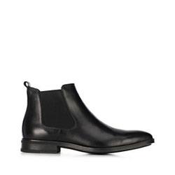Кожаные мужские ботинки, черный, 91-M-912-1-44, Фотография 1