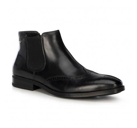 Кожаные ботинки мужские, черный, 91-M-913-1-42, Фотография 1