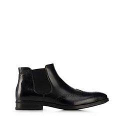 Кожаные ботинки мужские, черный, 91-M-913-1-44, Фотография 1
