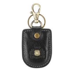 Заокругленный  кожаный брелок, черный, 22-2-008-1, Фотография 1
