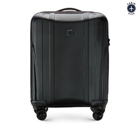 Современный чемодан ручная кладь из поликарбоната, черный, 56-3P-911-10, Фотография 1