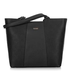 Большая трапециевидная сумка-шоппер, черный, 29-4Y-004-1E, Фотография 1