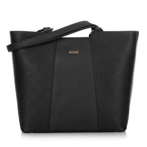 Большая трапециевидная сумка-шоппер, черный, 29-4Y-004-1, Фотография 1