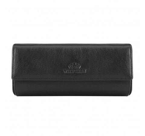 Кожаный футляр для очков, черный, 21-2-035-1, Фотография 1