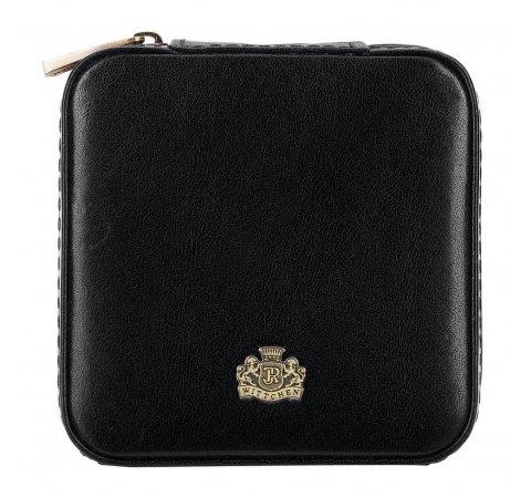 Кожаная шкатулка для украшений|, черный, 10-2-300-1, Фотография 1