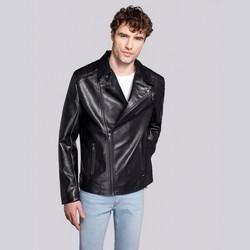 Классическая мужская байкерская куртка, черный, 92-9P-153-1-L, Фотография 1