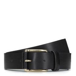 Классический мужской кожаный ремень, черный, 92-8M-355-1-11, Фотография 1