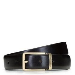 Классический мужской кожаный ремень, черный, 92-8M-362-1-10, Фотография 1