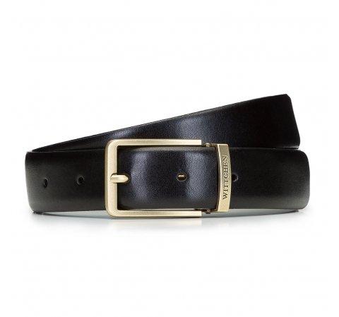 Классический мужской кожаный ремень, черный, 92-8M-362-5-12, Фотография 1