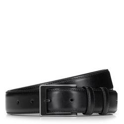 Классический мужской кожаный ремень, черный, 92-8M-366-1-12, Фотография 1