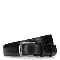 Классический мужской кожаный ремень, черный, 92-8M-367-1-12, Фотография 1