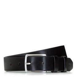 Классический мужской кожаный ремень, черный, 92-8M-500-1-90, Фотография 1