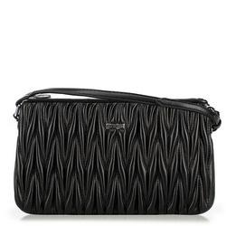 Женская вечерняя гофрированная сумка через плечо, черный, 91-4Y-601-1, Фотография 1
