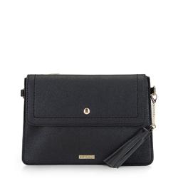 Женская сумка с кисточками, черный, 92-4Y-566-1, Фотография 1