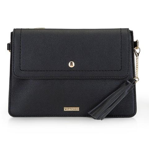 Женская сумка с кисточками, черный, 92-4Y-566-S, Фотография 1