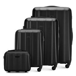 Комплект текстурных чемоданов из поликарбоната, черный, 56-3P-11K-10, Фотография 1