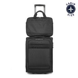 Комплект чемодан + сумка, черный, 56-3S-580-10, Фотография 1