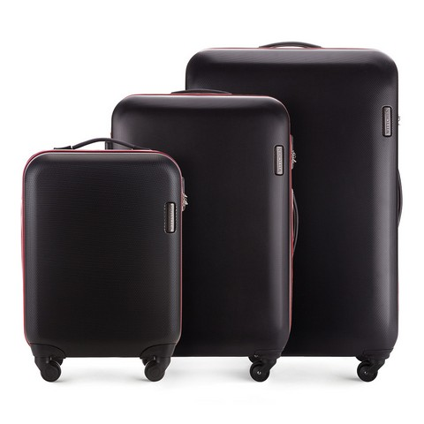 Комплект чемоданов, черный, 56-3-61S-10, Фотография 1