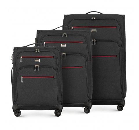 Комплект чемоданов, графит, 56-3S-50S-90, Фотография 1