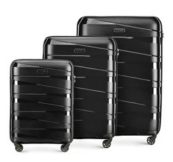 Комплект чемоданов, черный, 56-3T-79S-10, Фотография 1