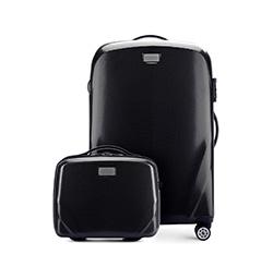 Комплект (Средний чемодан + косметичка), черный, 56-3P-572_4-10, Фотография 1