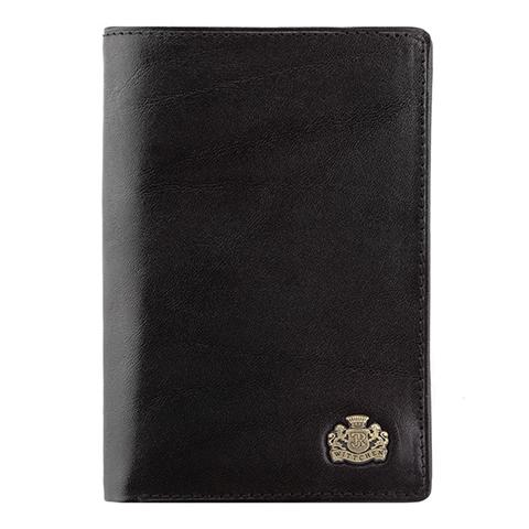 Универсальный вертикальный кожаный кошелек, черный, 10-1-008-4, Фотография 1