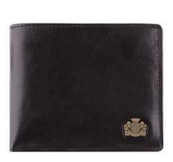 Кошелек кожаный универсальный горизонтальный, черный, 10-1-019-1, Фотография 1