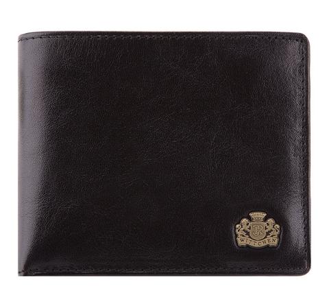 Кошелек кожаный универсальный горизонтальный, черный, 10-1-019-4, Фотография 1