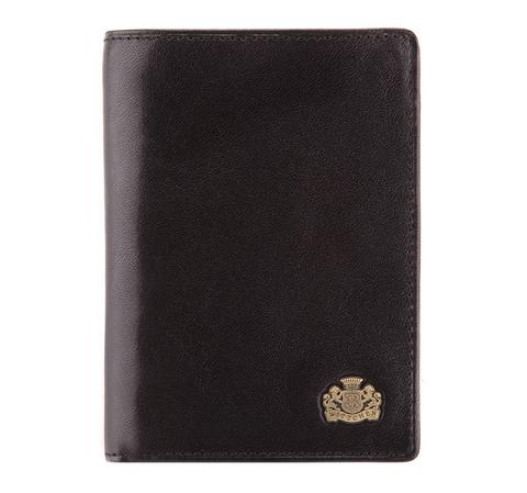 Небольшой кожаный кошелек мужской, черный, 10-1-023-1, Фотография 1