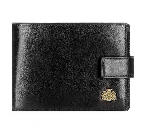 Мужской классический кожаный кошелек, черный, 10-1-038-1, Фотография 1