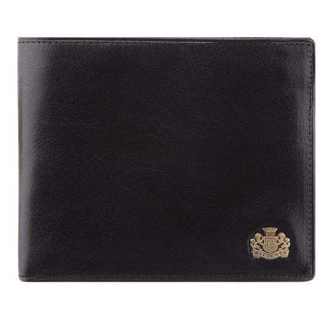 Кожаный мужской кошелек с двумя молниями |, черный, 10-1-040-1, Фотография 1