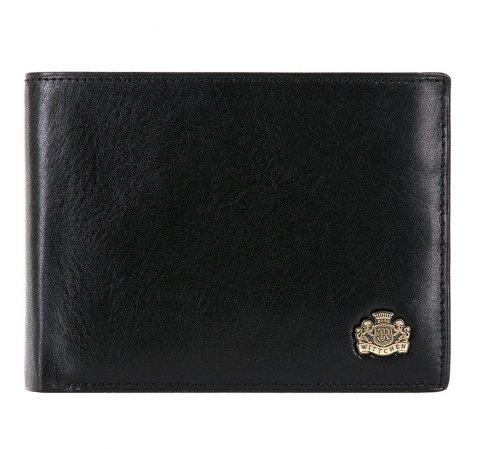 Мужской раскладывающийся кожаный кошелек, черный, 10-1-046-4, Фотография 1