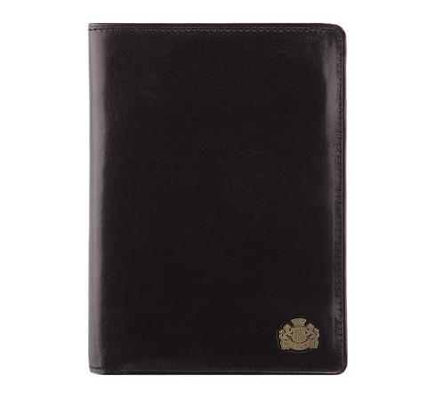 Кожаный мужской кошелек с отдельным вкладышем, черный, 10-1-119-1, Фотография 1