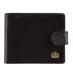 Мужской кожаный кошелек, черный, 10-1-120-1, Фотография 1