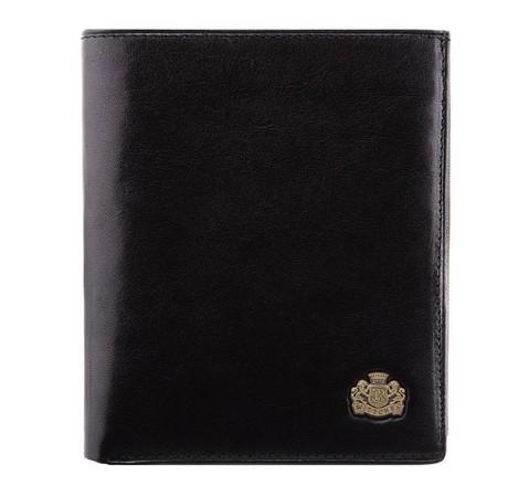 Большой мужской кожаный кошелек, черный, 10-1-139-4, Фотография 1