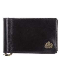 Кожаный кошелек с логотипом, черный, 10-2-269-1, Фотография 1