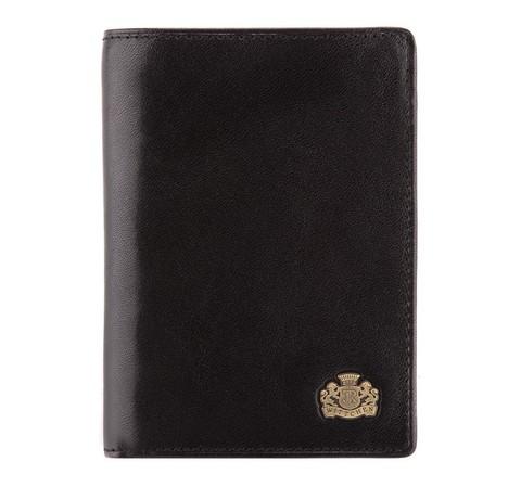 Кожаный кошелек вертикальной ориентацией с логотипом, черный, 11-1-023-1, Фотография 1
