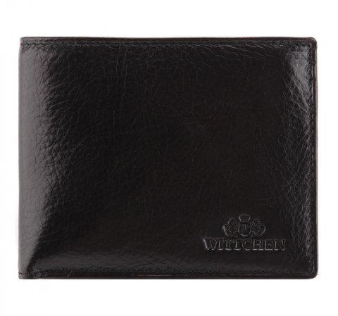 Кожаный мужской кошелек со съемным вкладышем, черный, 21-1-019-44L, Фотография 1
